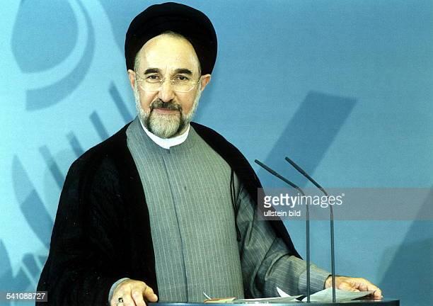 Theologe, Politiker; Iran- Präsident des IranPorträt; während des Staatsbesuchs in Deutschland