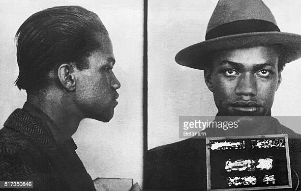 Malcolm Little at age 18 at the time of an arrest for larceny police photograph front and profile