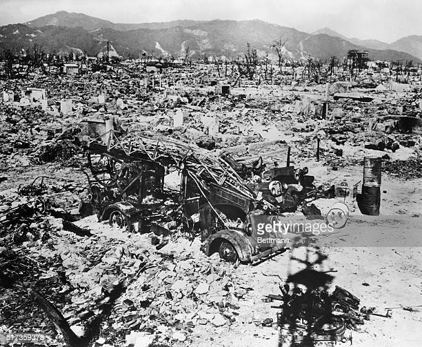 1945Hiroshima JapanA view of Hiroshima after the explosion of the Atomic Bomb Photograph 1945