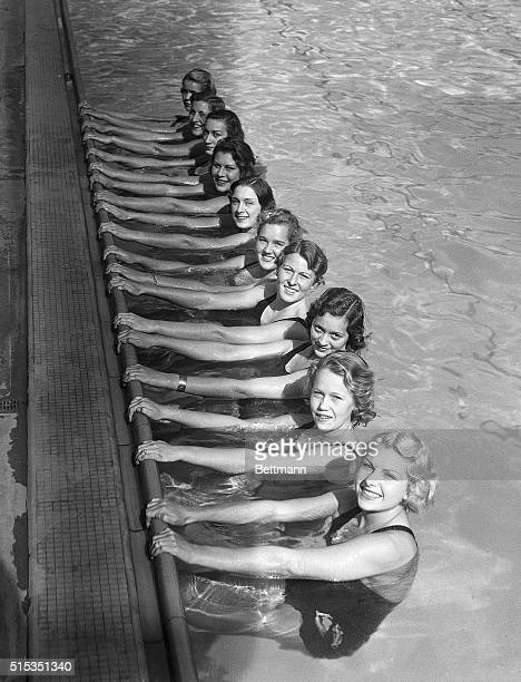 1945Los AngelesCAHere is a swimming team that actually won beauty honors Champion swimmers are not often beauties and conversely bathing beauties are...