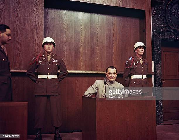 Nuremberg, Germany-Hermann Goering during his trial.