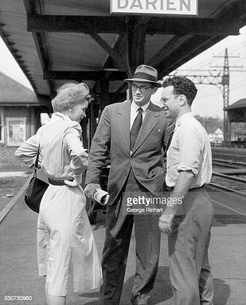 1947Darien CT Director Elia Kazan rehearses Dorothy McGuire and Gregory Peck for a railroad station scene His direction of the picture also won the...