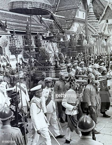 1950Bangkok ThailandWhile other monarchs rode in the royal coach or astride a horse in coronation processions in Thailand once known as Siam the new...