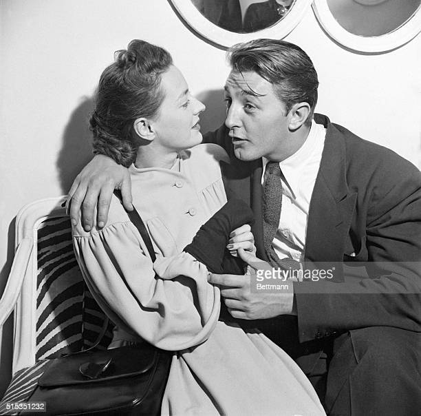 1950New York New York At the El Morroco Club E54Th Street New York City actor Robert Mitchum is shown in a playful embrace with his wife Dorothy They...