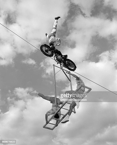 1950s 1960s HIGH-WIRE ACT...
