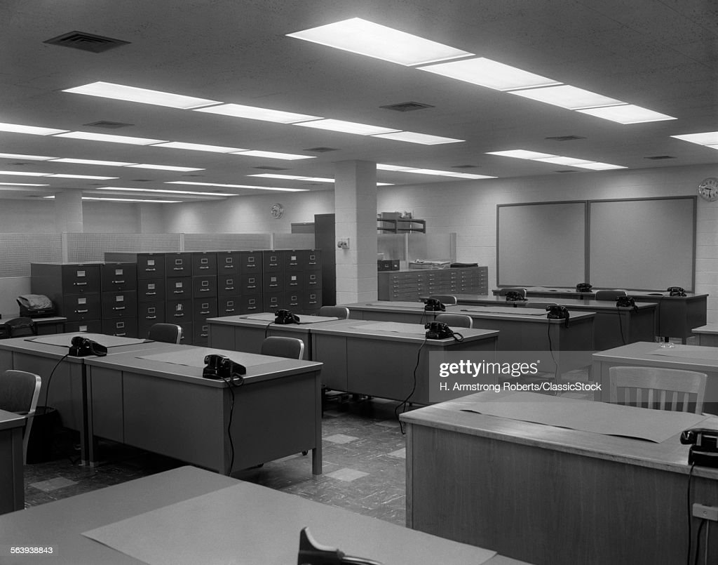 1950s 1960s Office With Stock Photo
