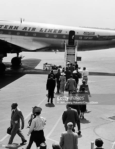 1950s AIRPLANE BOARDING...