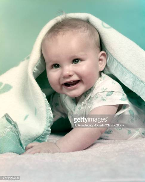 1950s BABY BOY SMILING...