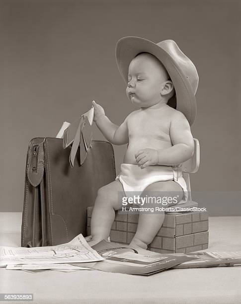 1950s BABY BUSINESSMAN IN...