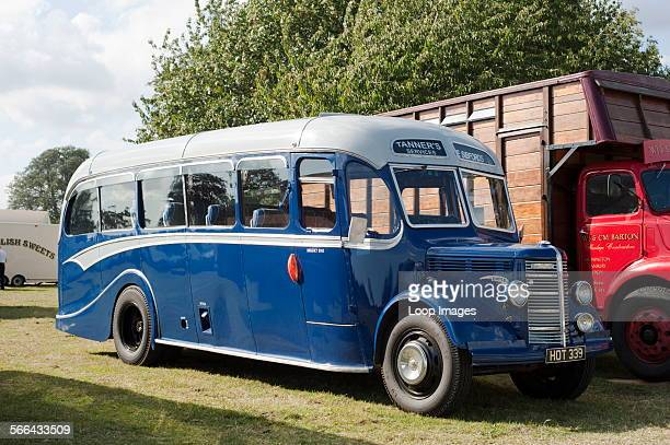 1950s Bedford coach at the Fairford Steam Rally.