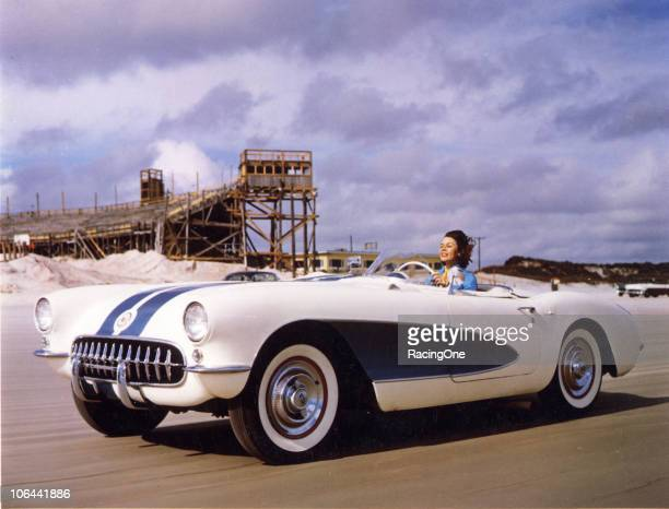 Betty Skelton at speed on the Daytona BeachRoad Course in the late 1950s Well known for her exploits at setting automotive speed records Skelton...