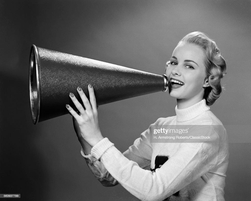 1950s BLONDE WOMAN... : Stock Photo