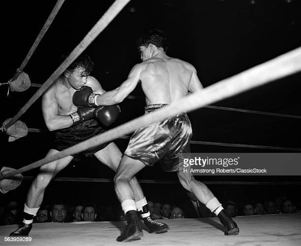 1950s BOXING MATCH ONE...