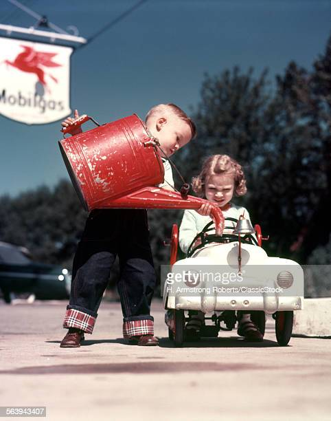 1950s BOY AND GIRL WITH...