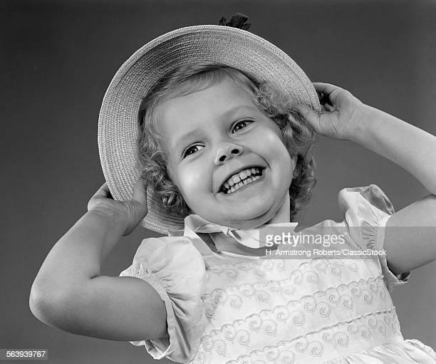 1950s CHILD SMILING LITTLE...