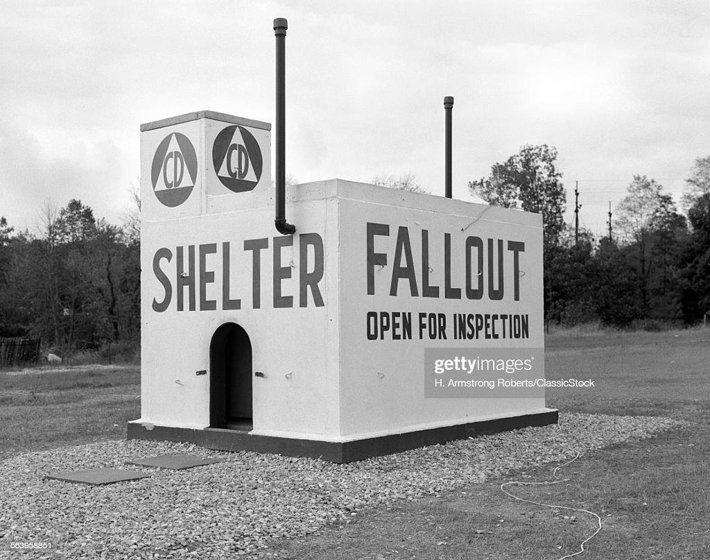 1950s CIVIL DEFENSE... : Stock Photo