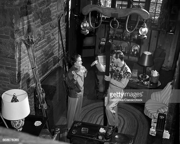 1950s COUPLE MAN WOMAN...
