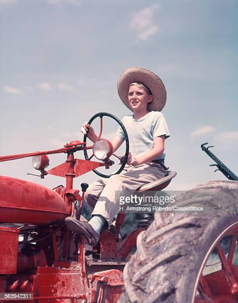 1950s FARM BOY WEARING...