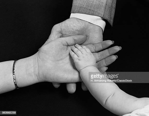 1950s HANDS OF FAMILY MAN...