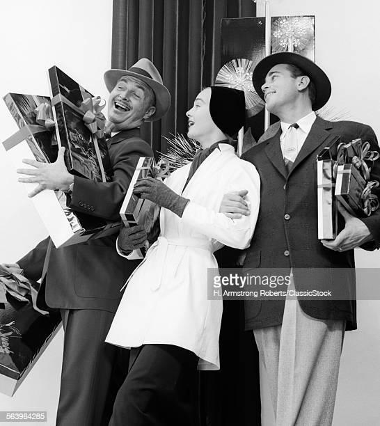1950s JOYOUS LAUGHING...