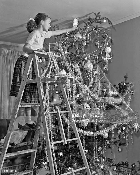 1950s JUVENILE GIRL ON...