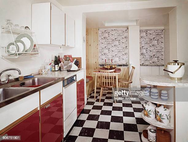 1950s kitchen, circa 1955.