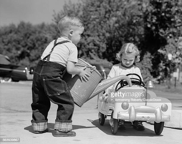 1950s LITTLE BOY PLAYING...