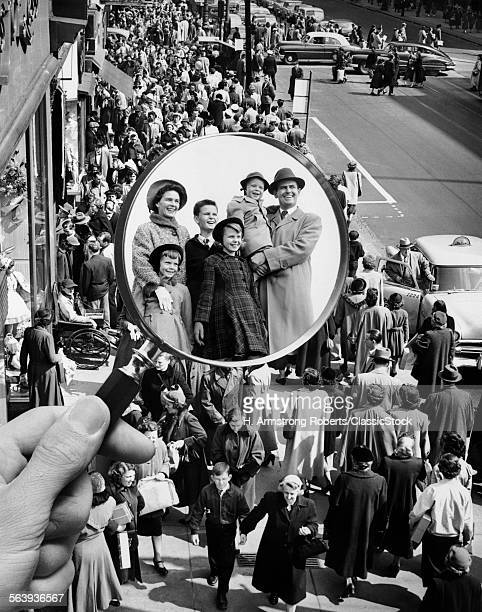 1950s MONTAGE OF FAMILY IN...
