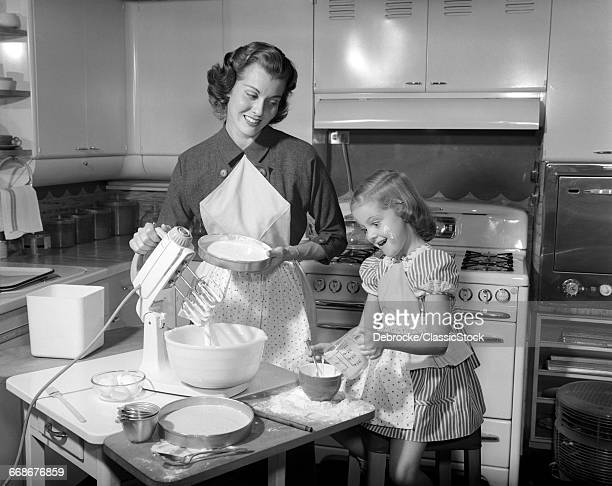 1950s MOTHER & DAUGHTER...