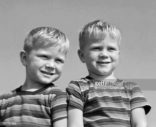 1950s PORTRAIT TWO TWIN...