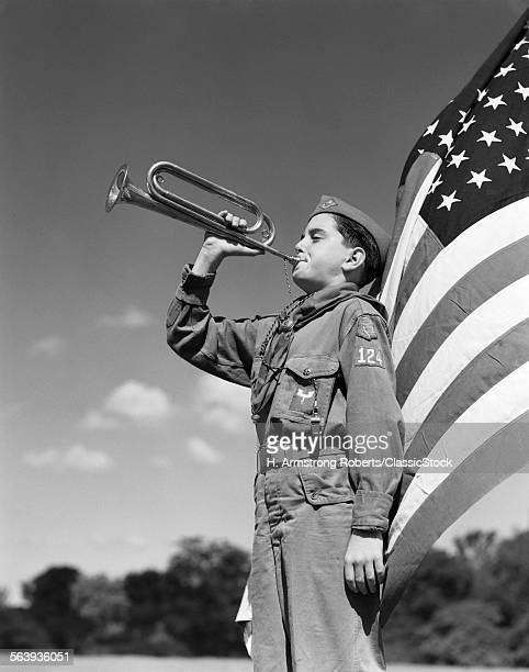 1950s PROFILE OF BOY SCOUT...
