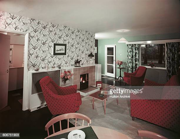 A 1950s sitting room April 1957