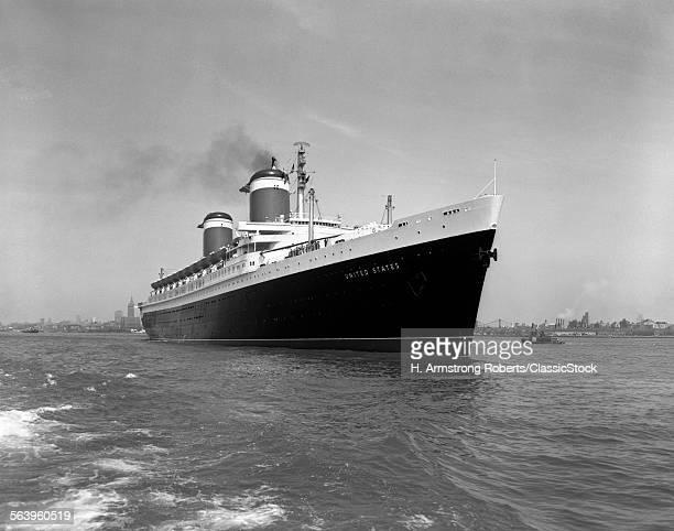 1950s SS UNITED STATES PASSENGER STEAMSHIP OCEAN LINER