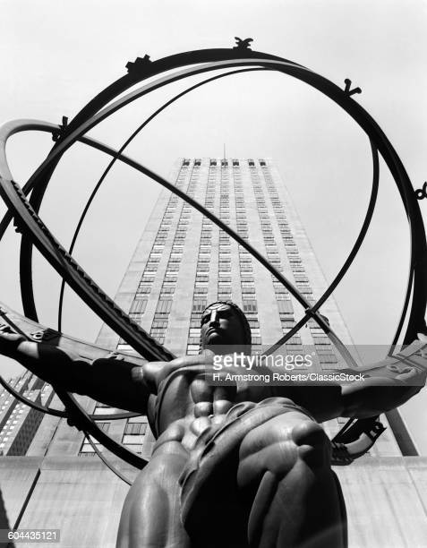 1950s STATUE OF ATLAS AT.