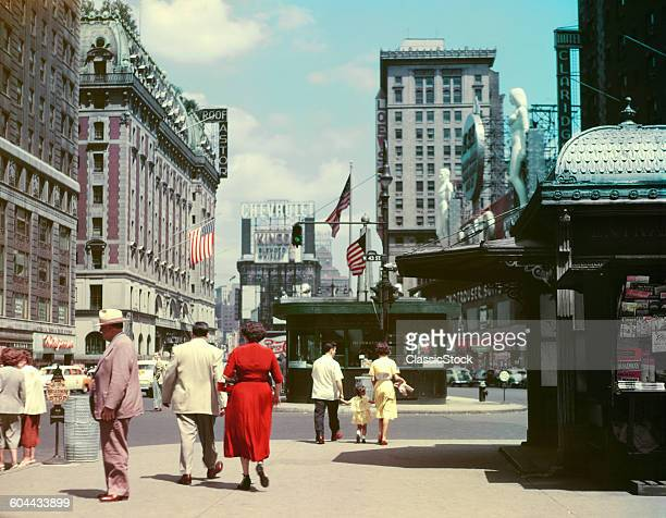 1950s STREET LEVEL VIEW OF.