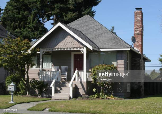 1950s style detached wooden house