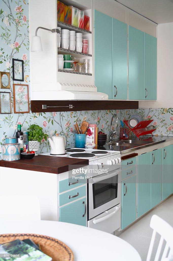 1950s Style Kitchen : Stock Photo