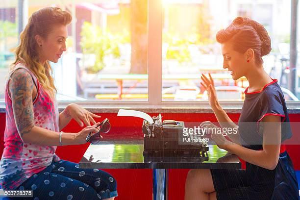 1950s style - Two women talking