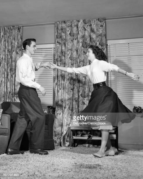 1950s TEEN BOY AND GIRL...