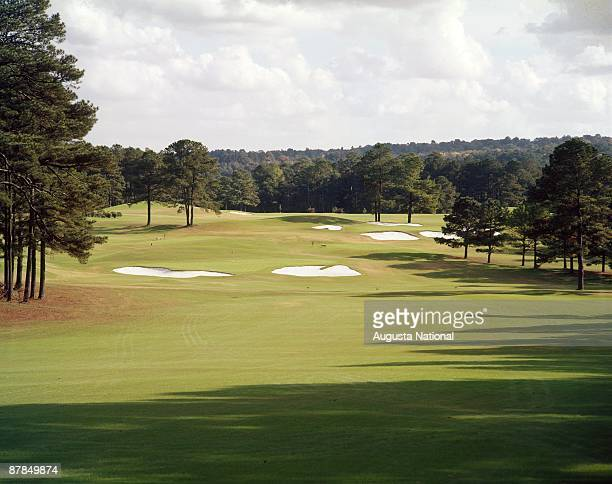 1950s: The 2nd hole during a 1950s Masters Tournament at Augusta National Golf Club in Augusta, Georgia.