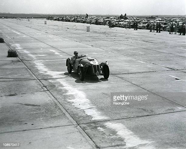 The race winning Frazer Nash Le Mans driven by Larry Kulock and Harry Grey during the innaugral 12 hours of Sebring race on 15th March 1952 at the...
