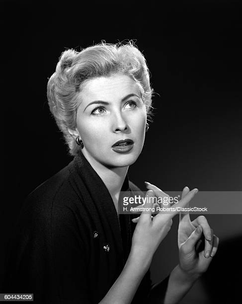 1950s THOUGHTFUL BLOND.