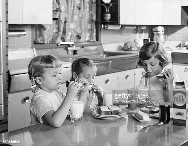 1950s THREE GIRLS SISTERS...