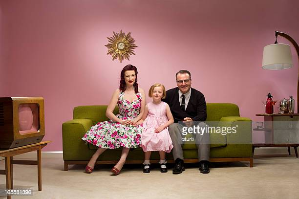 1950s tv family - kitsch stock pictures, royalty-free photos & images