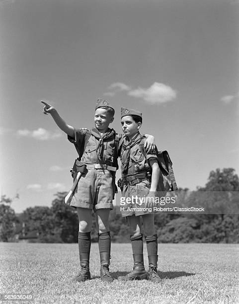 1950s TWO BOY SCOUTS ONE...