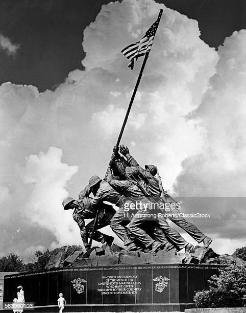 1950s USMC WAR MEMORIAL IWO JIMA 1945 WASHINGTON DC USA
