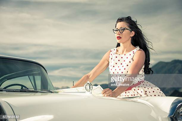 1950s Woman Traveling by Car