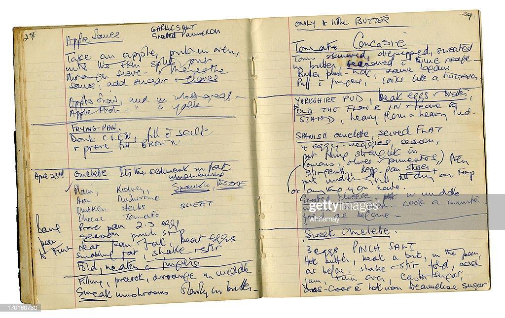 1950 s-1960s 秘伝レシピをシェフのオムレツ、トマト concasse など : ストックフォト