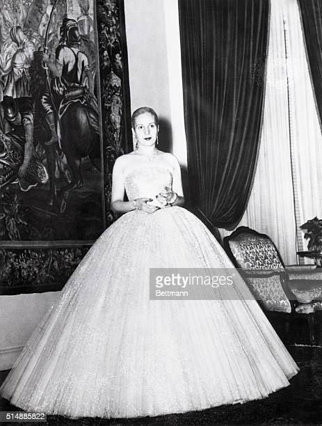 1951Eva Peron wife of the Argentine dictator during formal reception Photo 1951