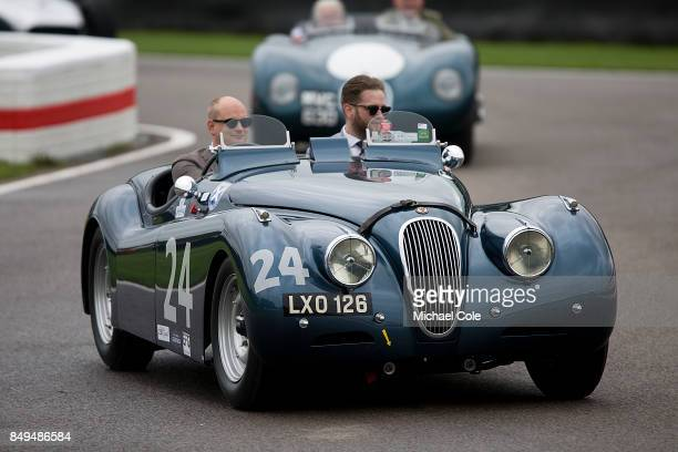 1951Jaguar XK 120 during the Ecurie Ecosse Parade at Goodwood on September 8th 2017 in Chichester England